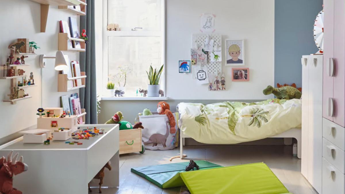 Una habitación ordenada, en el catálogo de Ikea.
