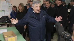 Antonio Tajani, tras votar en Fiuggi.