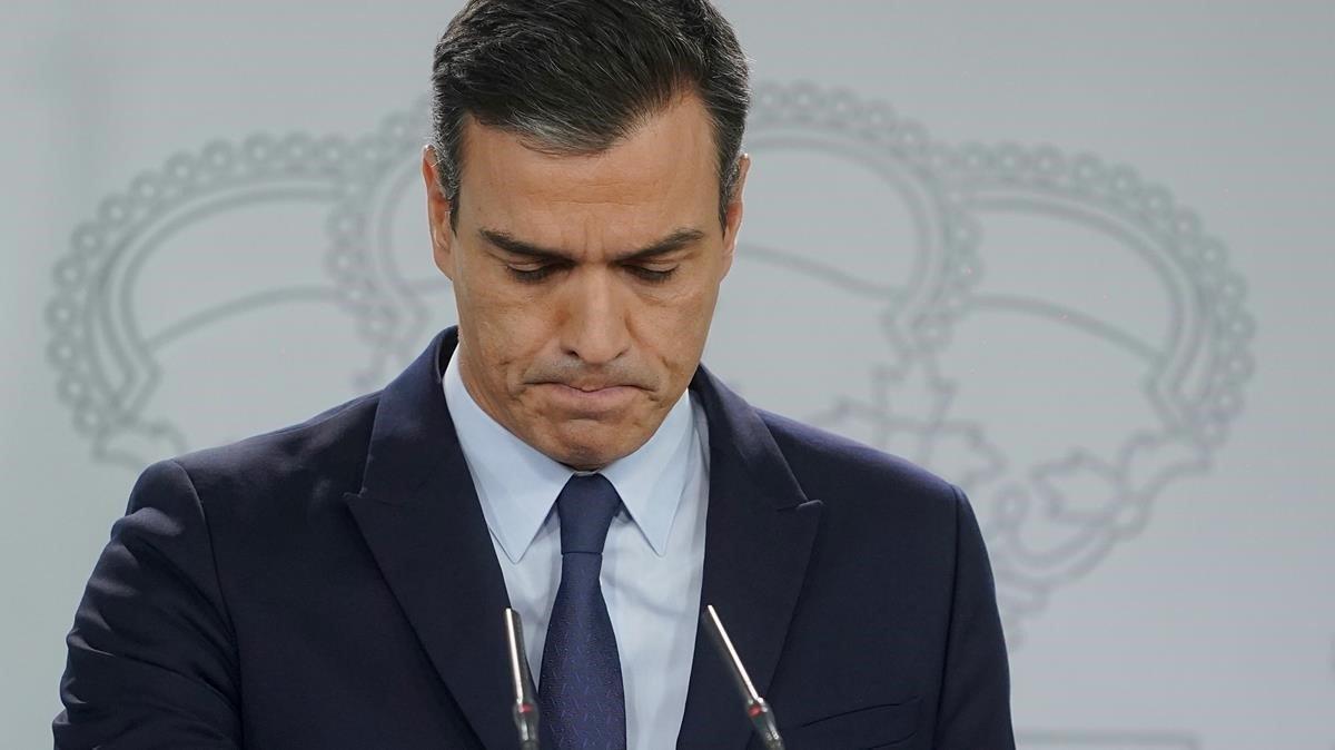 El presidente del Gobierno en funciones,Pedro Sánchez.