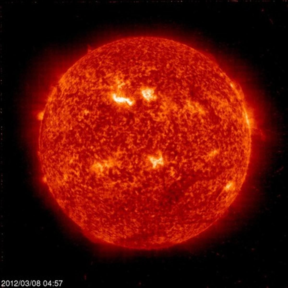 Imagen del Sol tomada por la NASA.