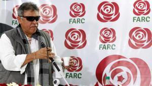 Jesus Santrich, antiguo líder de las FARC, en imagen de archivo en Bogotá.