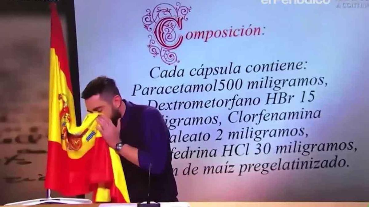 Dani Mateo y la bandera