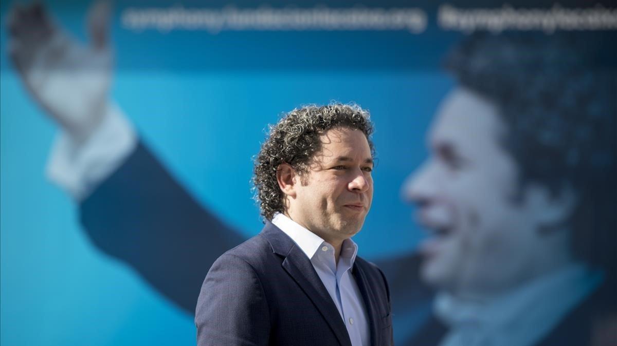 Gustavo Dudamel, en la presentación de 'Symphony' en CosmoCaixa.