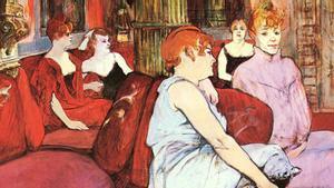 'Salón de la Rue des Moulins', de Henri de Toulouse-Lautrec.