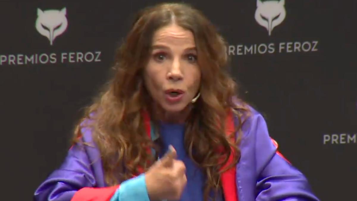 Victoria Abril en la rueda de prensa de los Premios Feroz 2021