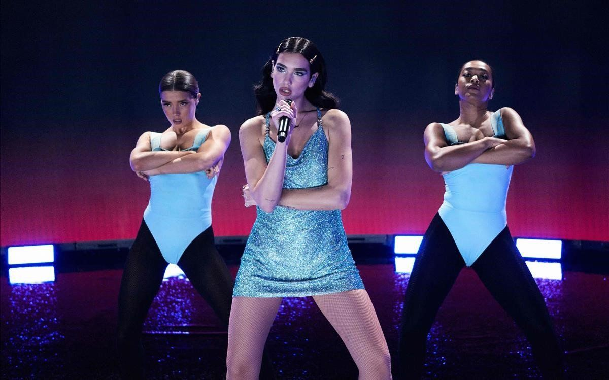 Dua Lipa, en los American Music Awards 2020.