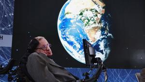 Stephen Hawking, en una conferencia en Nueva York, en abril del 2016.
