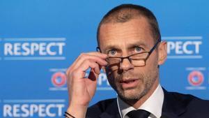 Aleksander Ceferin, este lunes en la reunión del Comité Ejecutivo de la UEFA.