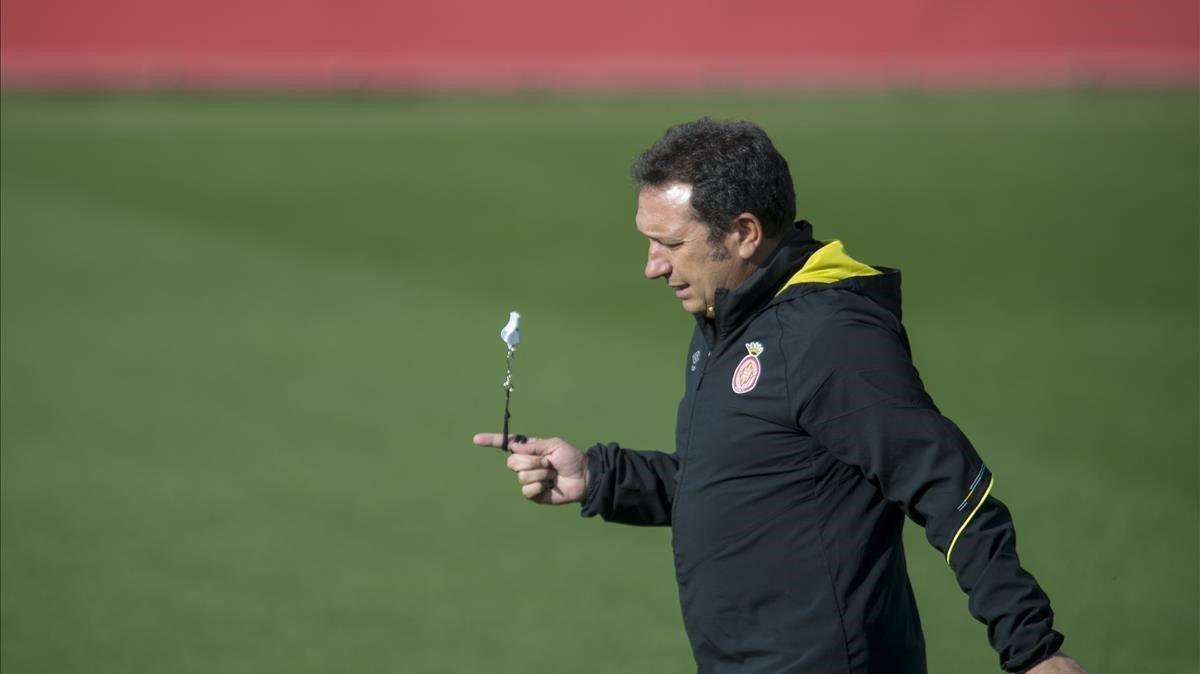 Eusebio Sacristán, entrenador del Girona.