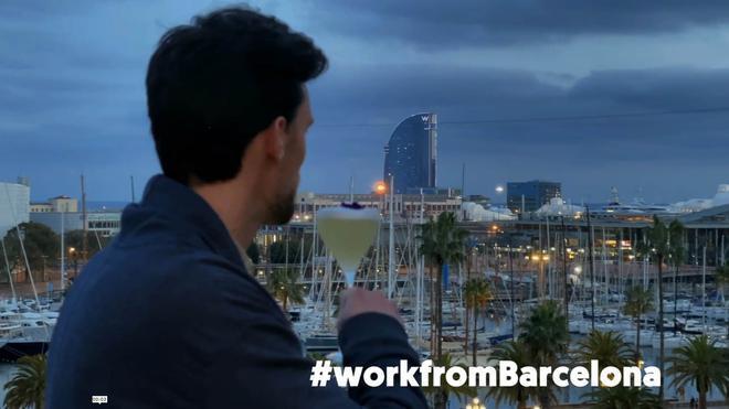 Vídeo promocional para captar extranjeros que vengan a teletrabajar a Barcelona con el programa Workation.