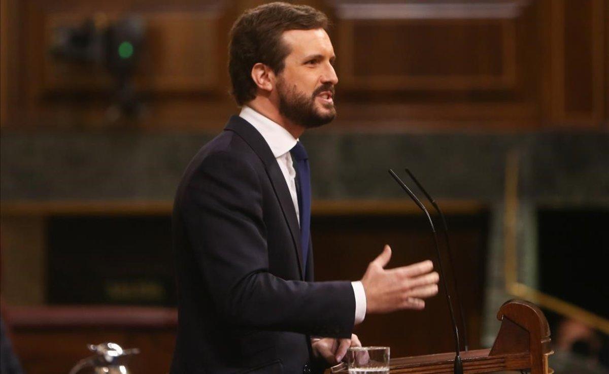 Casado replica Sánchez sobre el recolzament de Bildu: «El fi no justifica els socis»