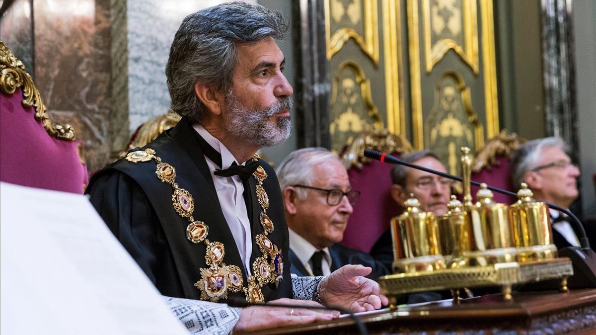 El presidente del Tribunal Supremo, Carlos Lesmes.