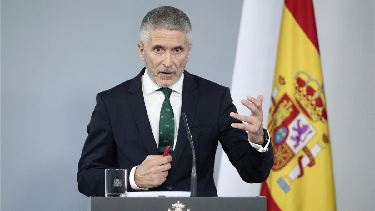 El ministro del Interior, Fernando Grande-Marlaska, este martes