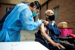 Vacunación de personas sin hogar en Estados Unidos.