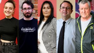 Los lectores participantes en el debate de Entre Todos sobre la brecha generacional: Teresa Pujol, Iván de la Torre, Mar Galván, Aniceto Ramírez y Domiciano Sandoval.