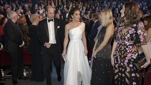 Los duques de Cambridge, a su llegada a los Premios Bafta.