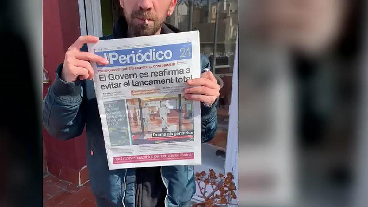Los Stay Homas enseñan su entrevista de hoy en la contra de EL PERIÓDICO