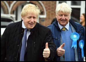 23/11/2019. London, United Kingdom: Boris Johnson General Election Campaign Day Sixteen.The Prime Minister Boris Johnson campaigning in Uxbridge with his dad Stanley, on day 16 of his General Election campaign. (Andrew Parsons / i-Images / Contacto)