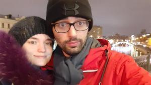 La pareja formada por el español Julián Manzano y la rusa Alina Gribova.