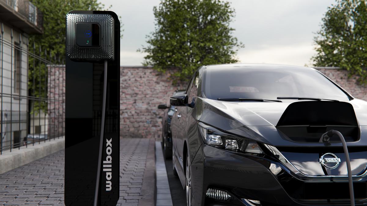 Una estación de recarga de automóviles eléctricos de Wallbox.