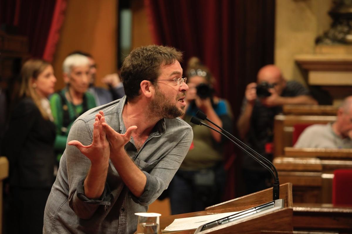 Albano Dante-Fachín, en el Parlament el pasado 26 de octubre