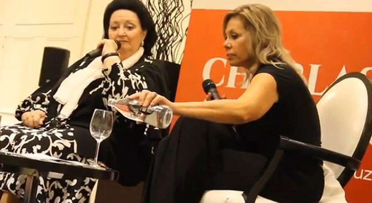 La soprano criticó la cadena humana de la Diada en un acto en Zaragoza.