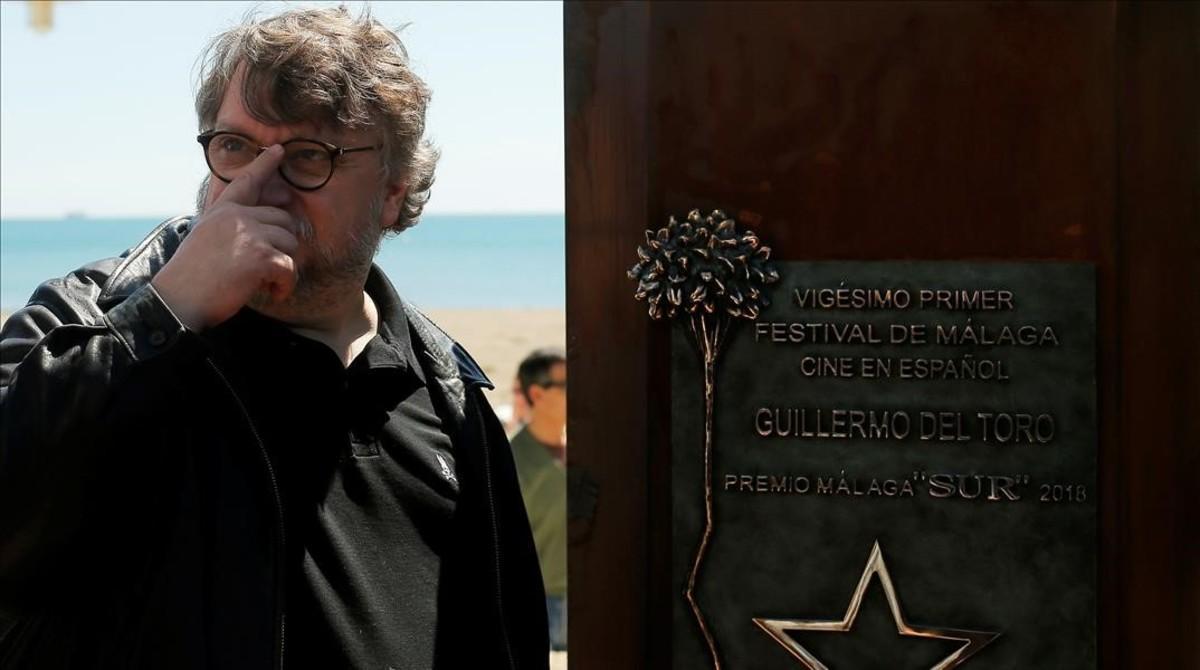 Guillermo del Toro, en el festival de Málaga, donde ha recibido elpremio SUR.