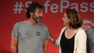 Colau oCamps, en un acto celebrado en Barcelona en julio del 2018.