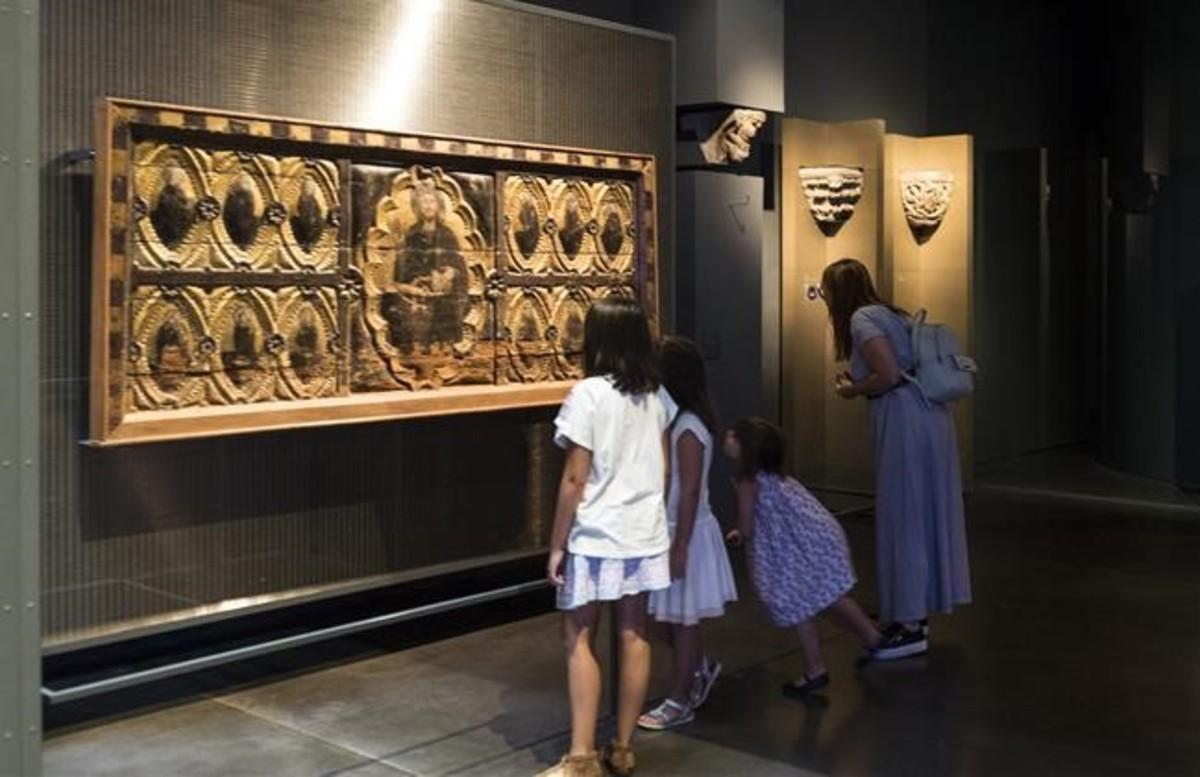 El frontal de altar de Berbegal, una de las joyas del Museu de Lleida.