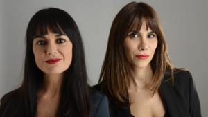 Las periodistas Marta Jaenes y Rosa Márquez.