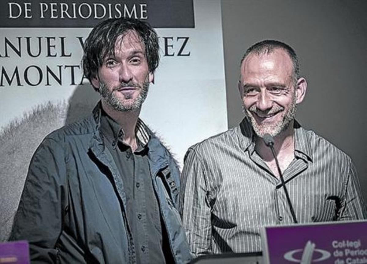 García Vilanova y Marginedas, en junio, en una entrega de premios.