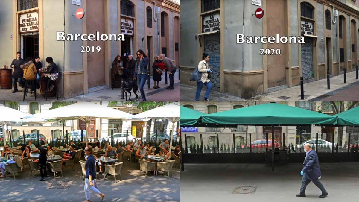 Barcelona, con cada año millones de turistas en sus calles y playas, se ha convertido en una ciudad fantasma.