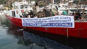 La flota pesquera del Mediterrani para en protesta per les quotes de la UE