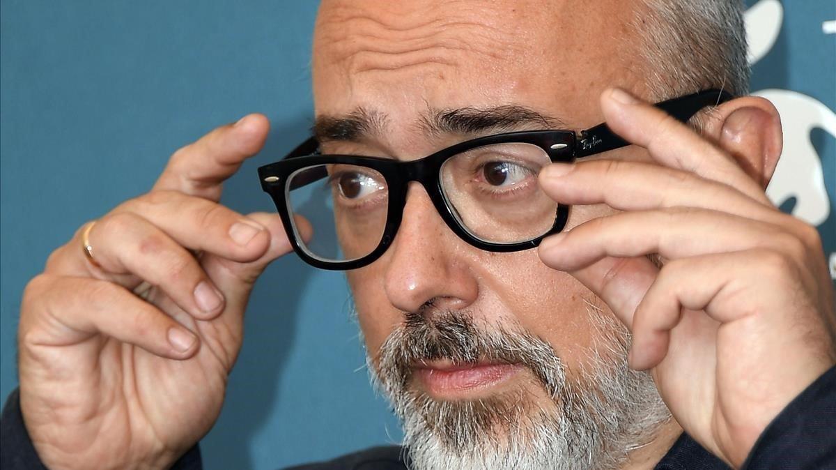 El cineasta Álex de la Iglesia, este viernes en la Mostra de Venecia.
