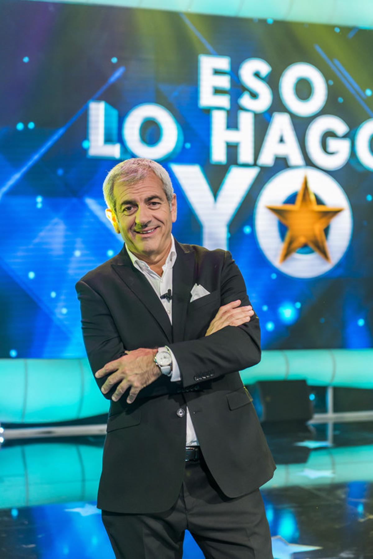 Carlos Sobera, presentador del 'talent show' de La Sexta 'Eso lo hago yo'.