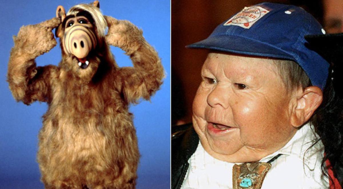 Alf y Mihaly 'Michu' Meszaros, el actor que se disfrazaba del popular personaje en la telecomedia.