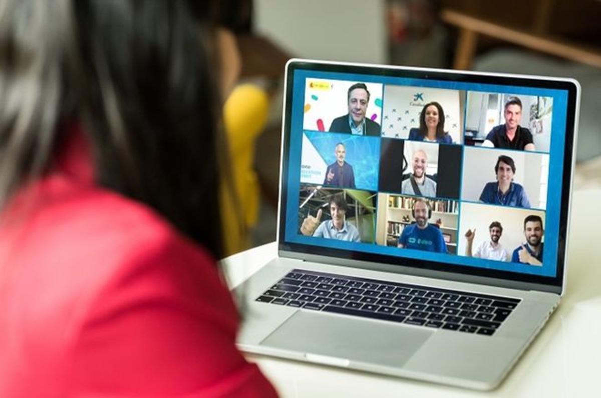 Imagen de una videoconferencia.