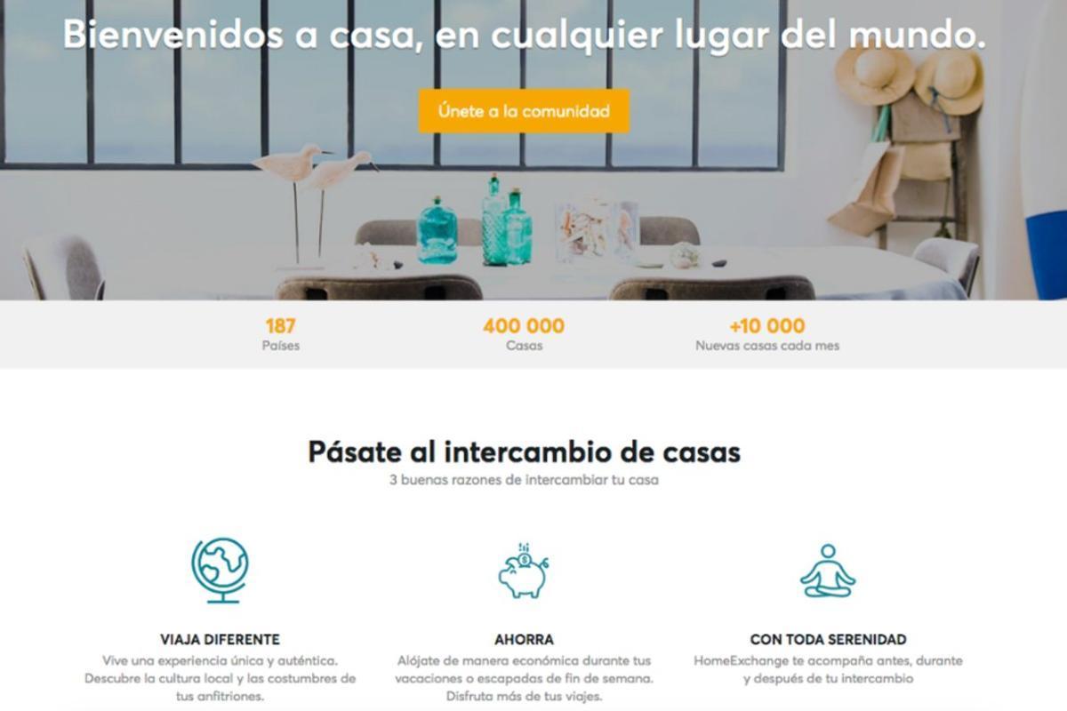 Imagen de la página web dehomeexchange.com