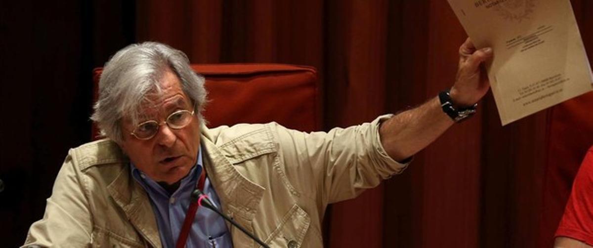 Javier Nart, en el Parlament.
