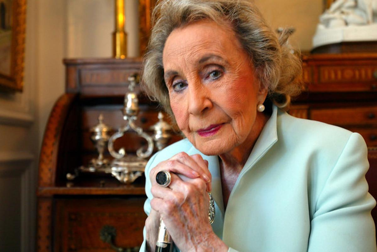 Mercedes Salisachs, en una imagen del 2005, en su casa.