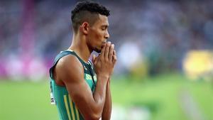 Van Niekerk, en las semifinales del domingo de 400 metros.