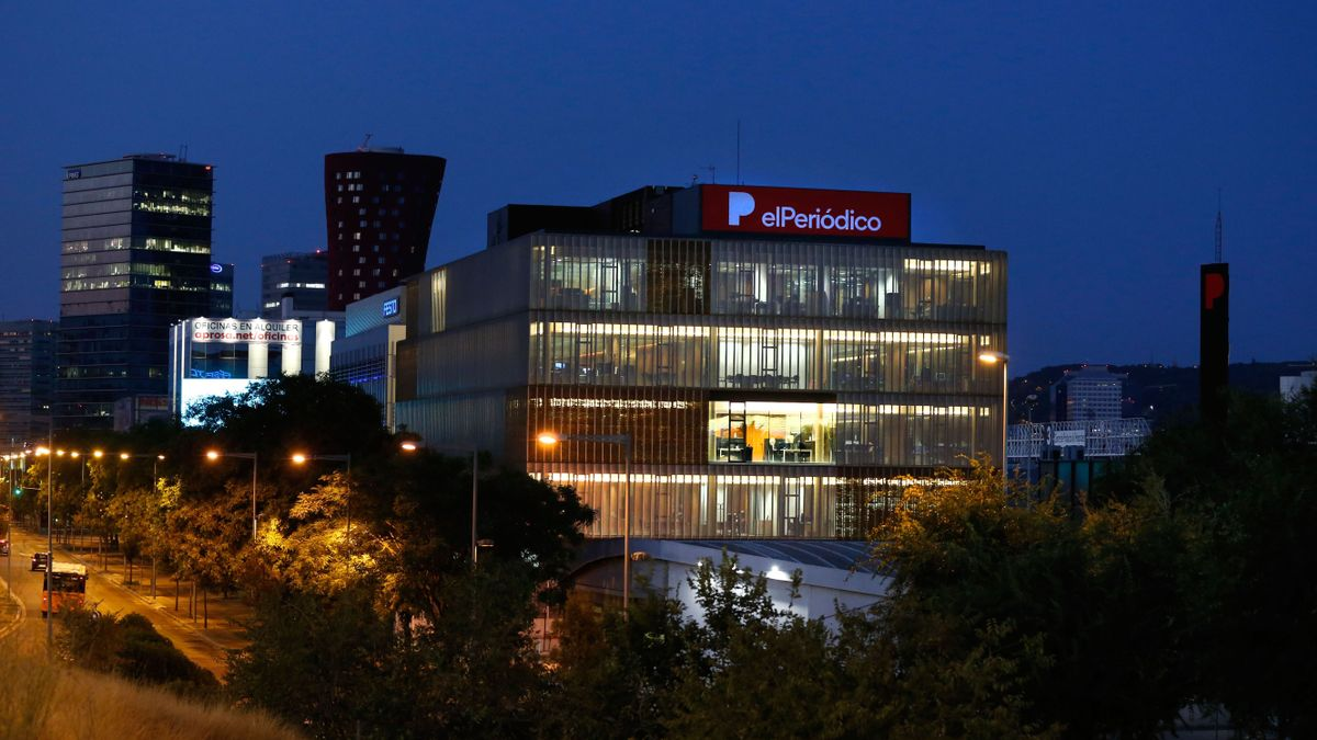 Vista de la nueva sede de EL PERIÓDICO y SPORT.