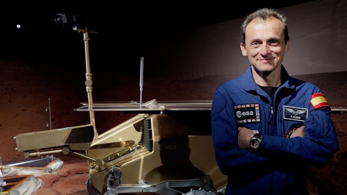 Pedro Duque, durante la presentación de una exposición sobre Marte en València.