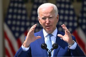 El presidente de EEUU, Joe Biden, durante su anuncio de las nuevas medidas ejecutivas para mejorar el control de las armas.