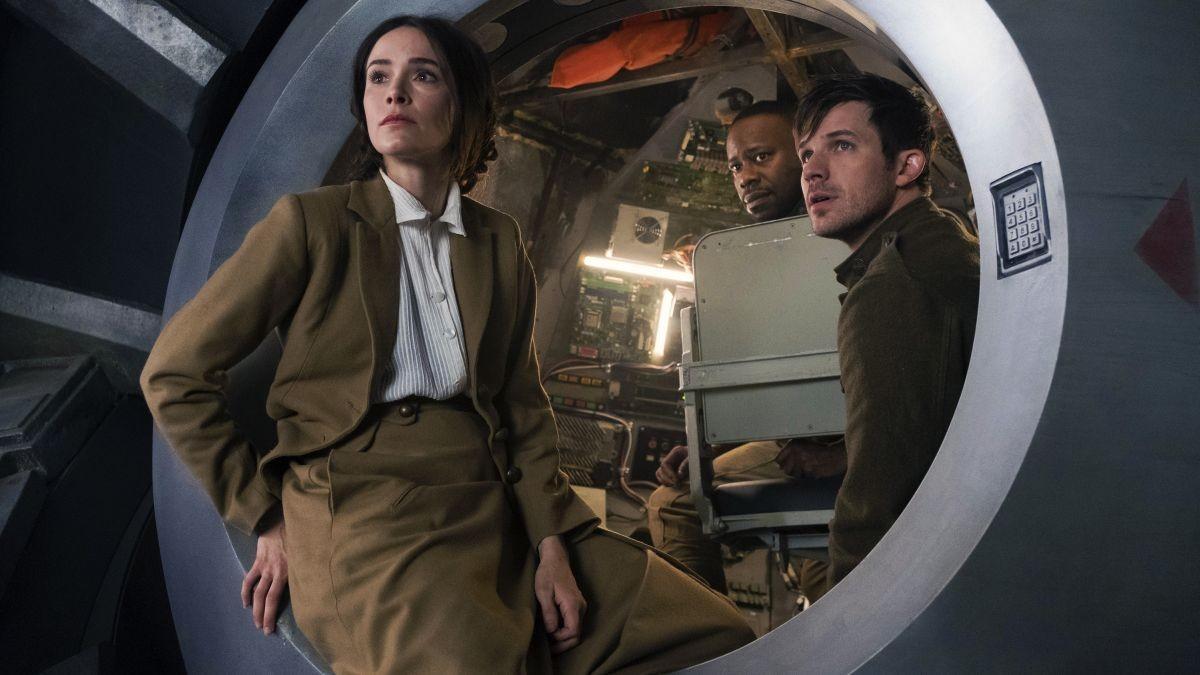 Abigail Spencer, Matt Lanter y Malcolm Barrett, los protagonistas de 'Timeless'.
