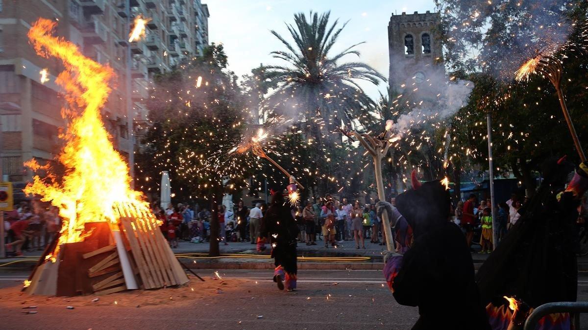 Este año, las hogeras de Sant Joan estarán prohibidas en Sabadell.