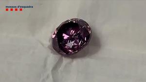 Diamante púrpura que sigue desaparecido.