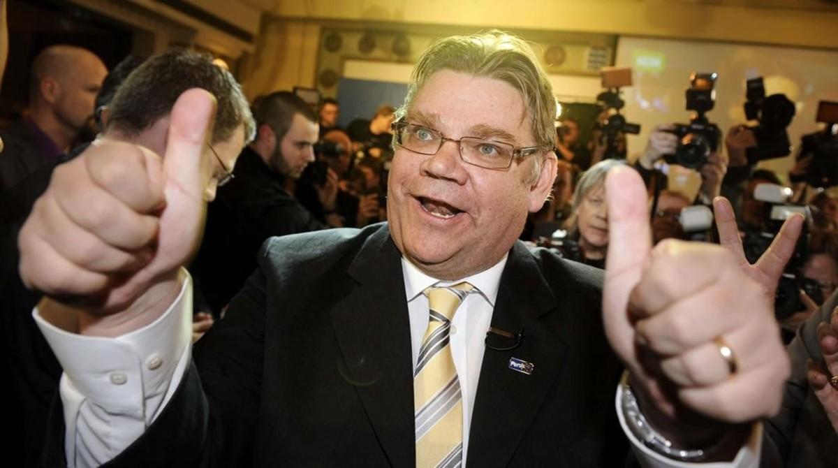 Timo Soini, líder de los Verdaderos Finlandeses, en abril del 2011.