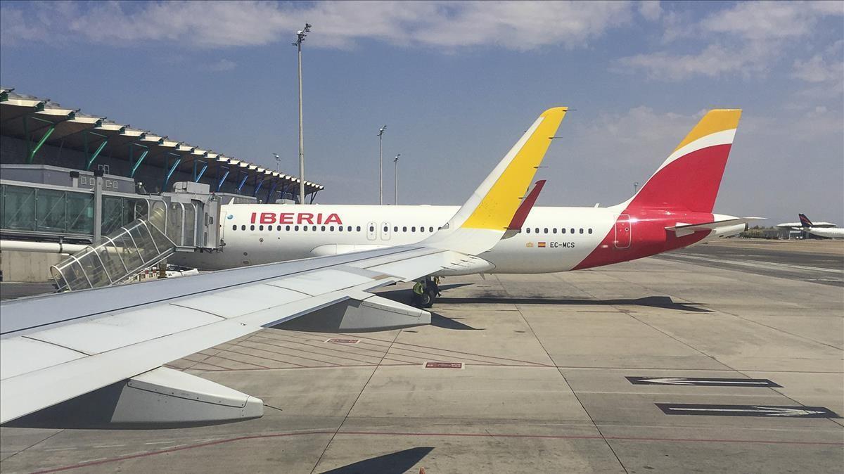 Aviones de Iberia en el aeropuero Adolfo Suárez Madrid-Barajas.
