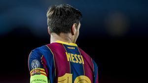 Messi, en el duelo europeo contra el Dinamo de Kiev.